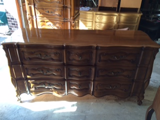 9 Drawer French Provincial Dresser ..BEFORE