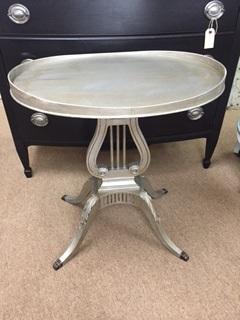 Harp Base Oval End Table