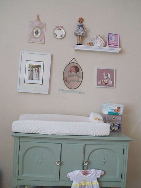Sideboard Converted into a Changing Table