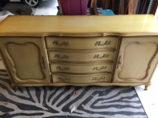 10 Drawer French  Provincial Dresser with 2 Side Cabinets