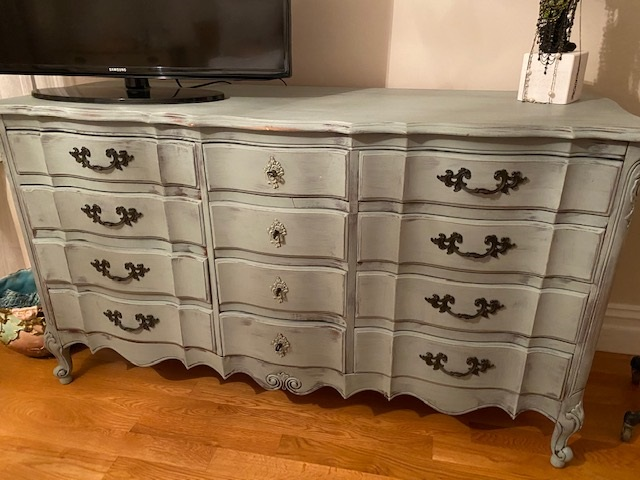 12 Drawer Dresser in Sea Glass Green