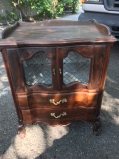 2 Drawer French Provincial Night Stand End Table