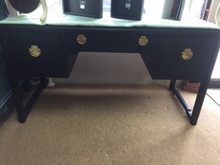3 Drawer Sleek Black Desk