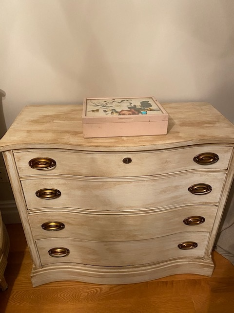 4 Drawer Antiqued Dresser