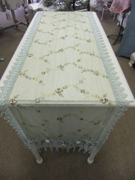 "60"" Embroidered Lace Runner"