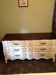 9 Drawer French Provincial Dresser ..AFTER