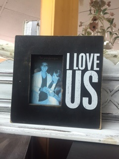 BOX FRAME ..  I LOVE US