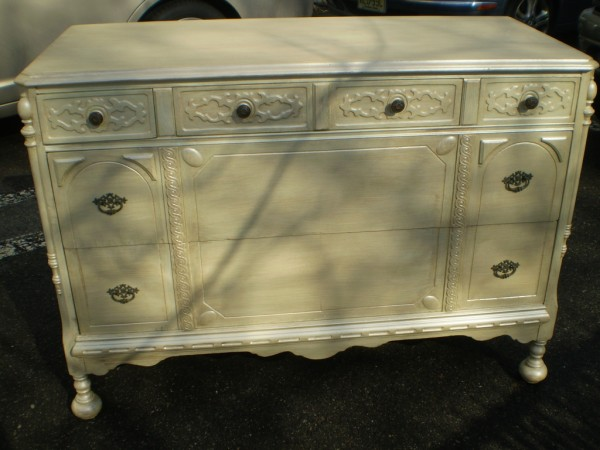 Color Washed Dresser...  After