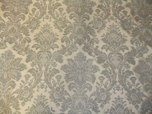 Grey on Taupe Damask