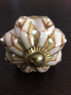 HAND PAINTED GOLD KNOB