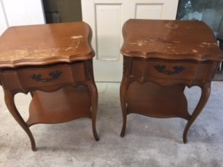 Set of French Provincial Night Stands
