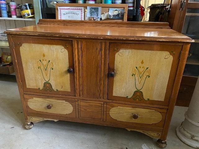 Small Oak Cabinet   Sideboard   TV Console