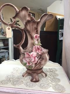 Vintage Capodimonte Vase  Pitcher