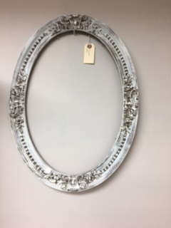 Antique Oval Frame with Original Curved Glass