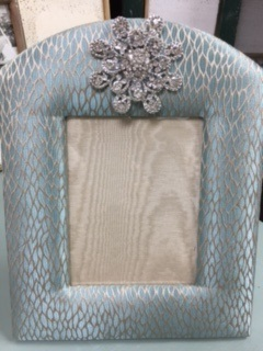 Hand Made Fabric Frame in Aqua