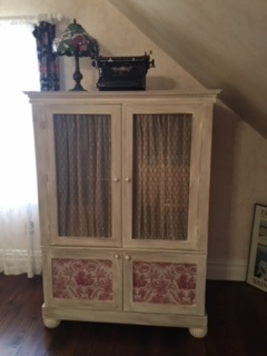 Armoire with Tin Sides and Chicken Wire Doors
