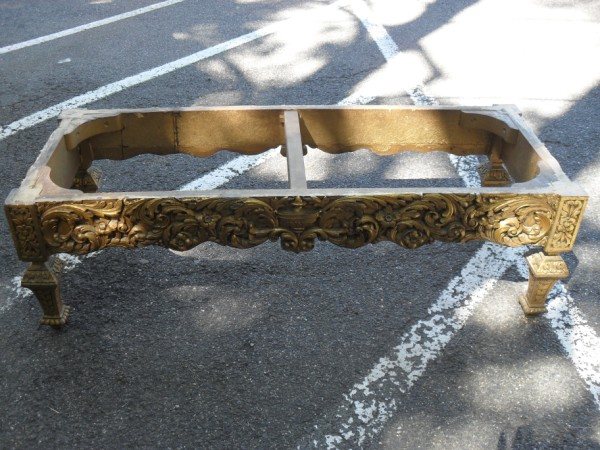 Ornate Base to a Coffee Table .. Before