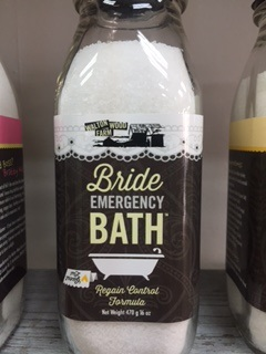 Bath Salt... Bride Emergency Bath