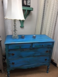 4 Drawer Dresser in Beach-y Blue