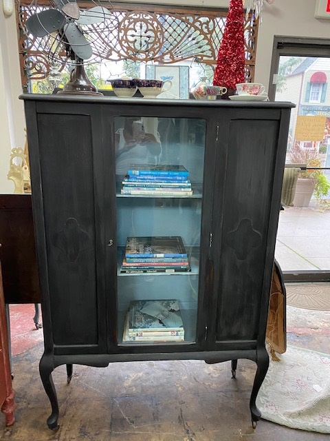 Black and Blue China Cabinet...  Book Case... Display Case