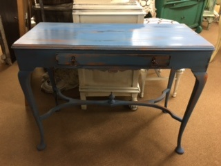 Small Console Table in Distressed Blue