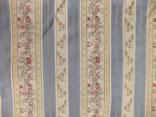 Blue Stripe--Floral