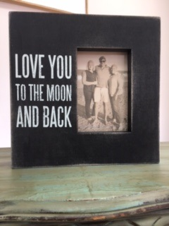 BOX FRAME..  LOVE YOU TO THE MOON AND BACK