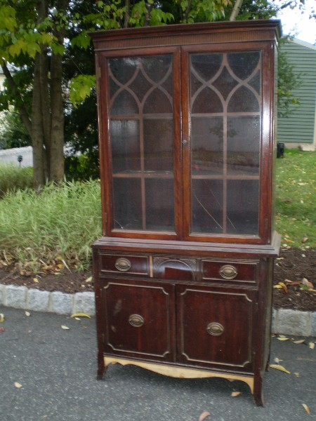 Vintage China Cabinet .. Before