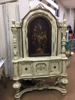 "Cabinet with ""Flower"" Door....  late 1800's"