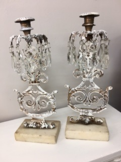 Candle Stick Holders with Crystals