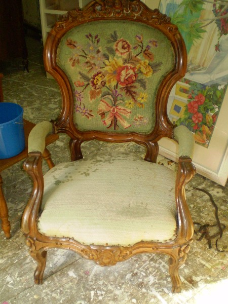 Antique Chair...  Before