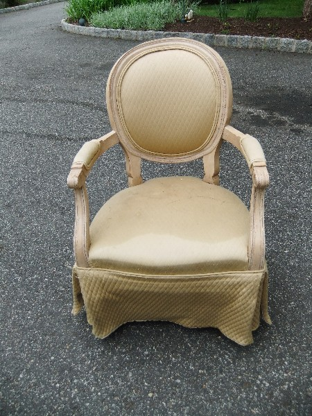 Upholstered Chair with Skirt