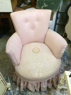 Chair with Skirt... BEFORE