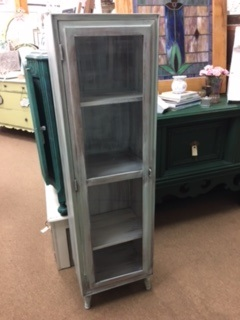 Color Washed Glass Door Display Case