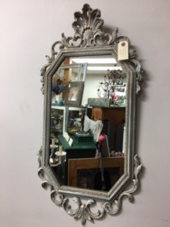 Ornate Painted Distressed Mirror
