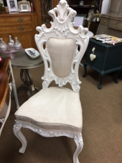 Ornate Creamy White Chair
