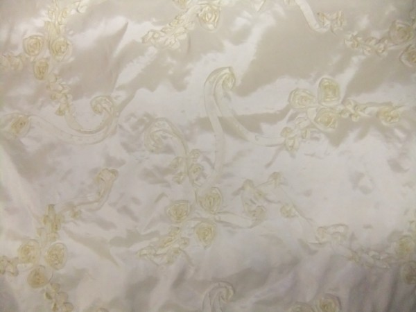 Creme on Creme Embroidered Fabric