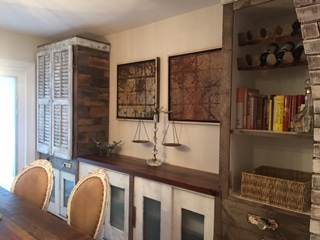 CUSTOM BUILT WALL UNIT FOR THE KITCHEN
