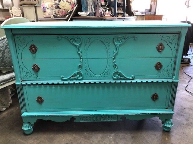 Depression Dresser in Caribbean Blue