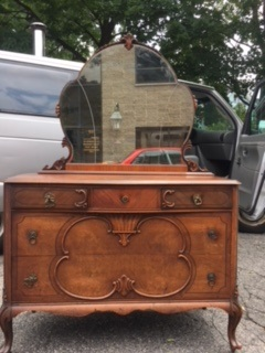 Depression Dresser with Shaped Mirror