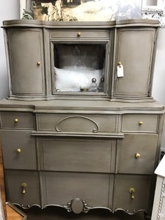 Depression AMAZING Chest with Glass Door and 2 Side Cabinets