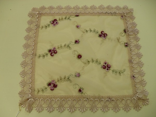 Embroidered Lace Small Square