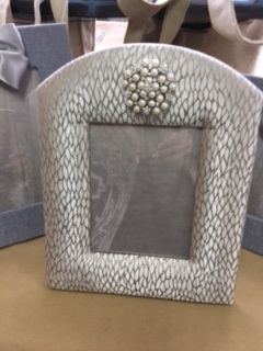 Hand Made Fabric Frame in Grey Pattern