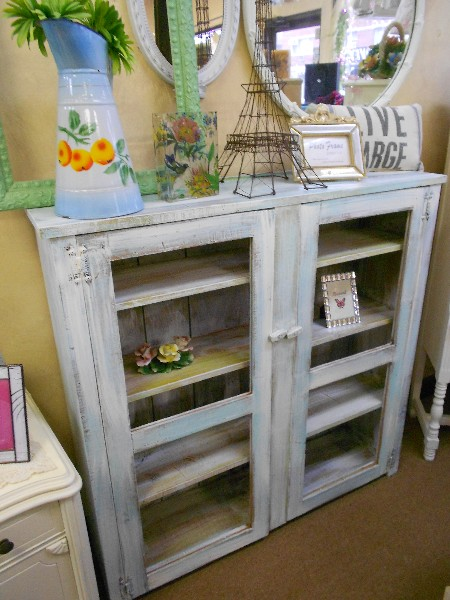 Distressed Farm Cabinet