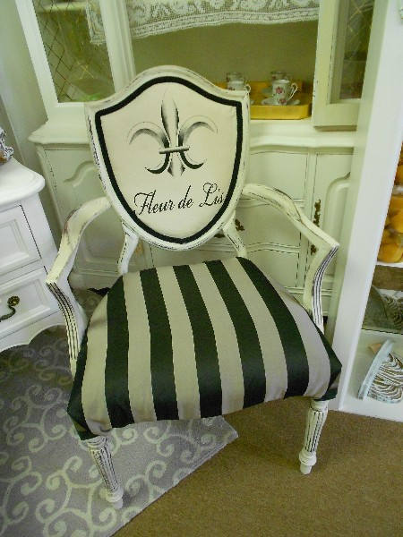 Shied Back Chair..  After ...  Fleur de Lis Chair