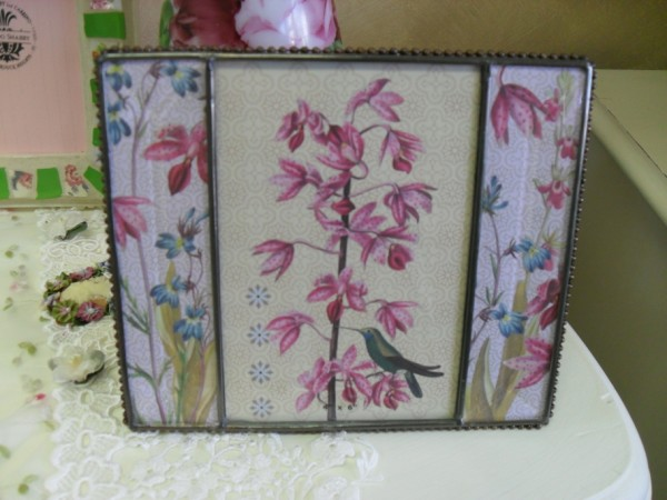 Glass Flower Picture Frame