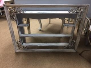 Distressed Framed Shelf
