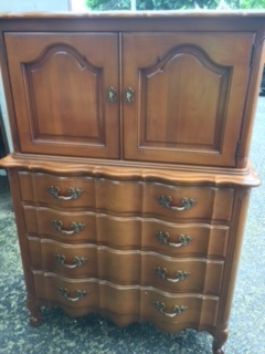 French Provincial Chest with Cabinet Top