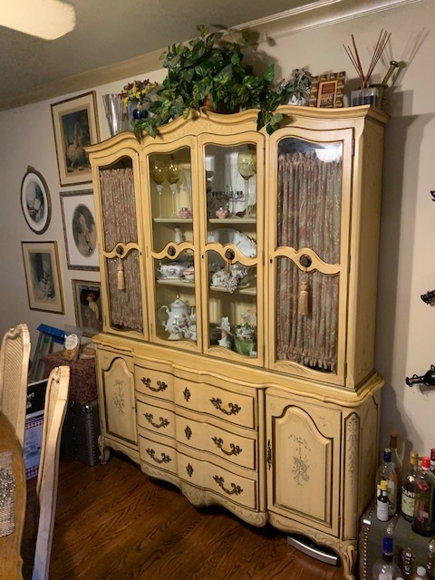 French Provincial China Cabinet...Hutch... Bookcase