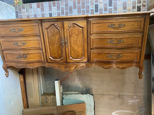 9 Drawer French Provincial Dresser with Center Cabinet